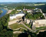 Festung Königstein mit Blick über Sächsische Schweiz