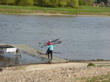 Rudern an der Elbe Ausflug Pillnitz