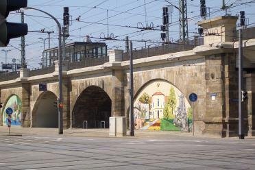Bahnhof Mitte Streetart Dresden Architektur Friedrichstadt