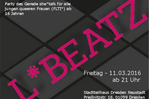 Flyer von L*BEATZ - Party im Stadtteilhaus