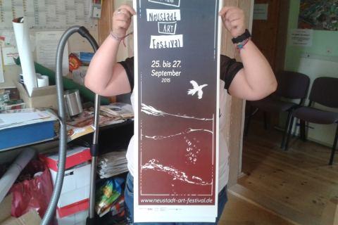 Plakat zum 4. Neustadt Art Festival